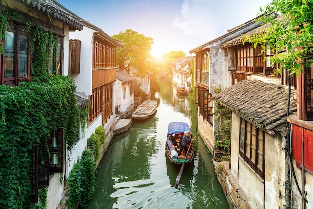 Jiangsu zhouzhuang krajobraz