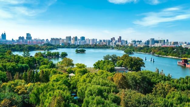 Jinan panoramę nowoczesnej architektury miasta