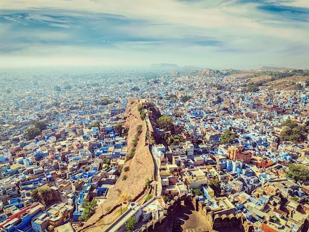 Jodhpur błękitne miasto, radżastan, indie
