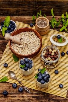Jogurt z jagodami i nasionami chia