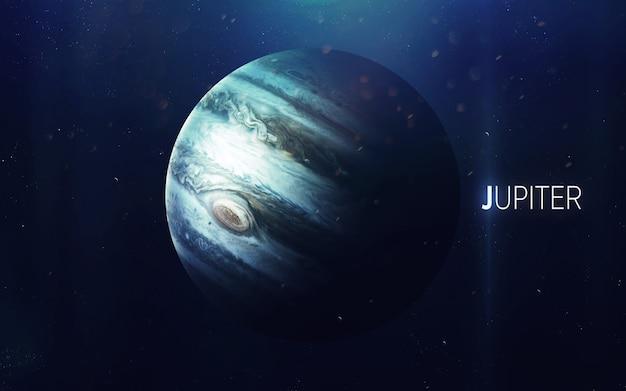 Jowisz - piękna grafika w wysokiej rozdzielczości przedstawia planetę układu słonecznego