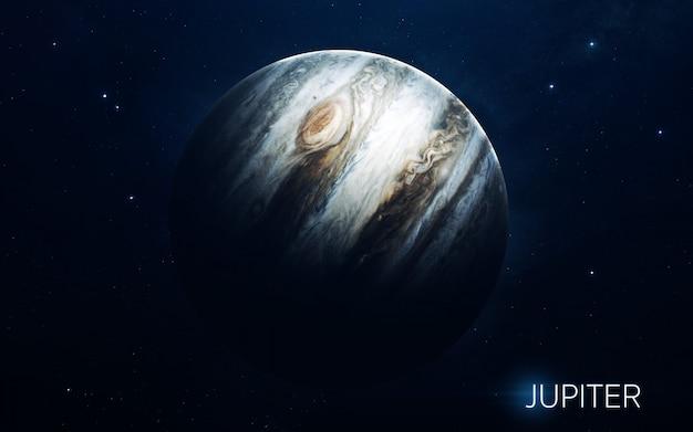 Jowisz - planety układu słonecznego w wysokiej jakości. tapeta naukowa.