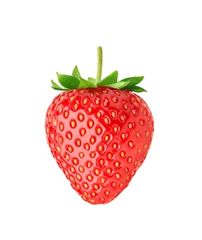 Juicy red strawberry izolowana