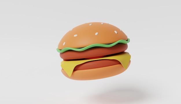 Jumbo burger renderowanie 3d