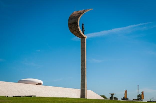 Juscelino kubistchek pomnik jk memorial in brasilia df brazylia 14 sierpnia 2008