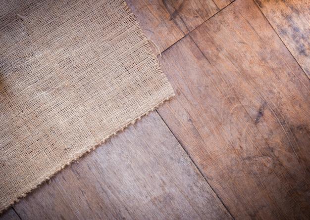 Juta i drewniane tekstury tło