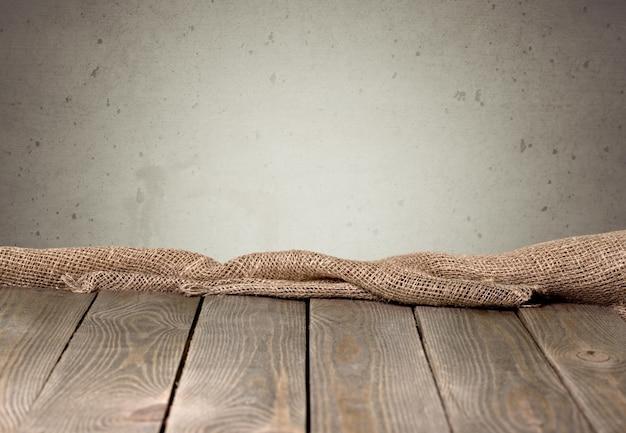 Juta juta lub zwolnienie na drewnianym tle