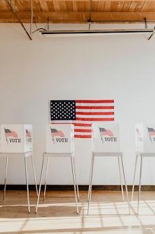 Kabina do głosowania demokracji amerykańskiej