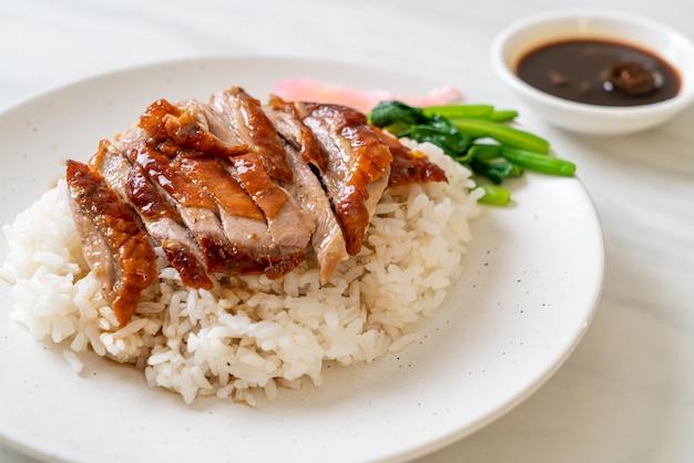 Kaczka pieczona na ryżu