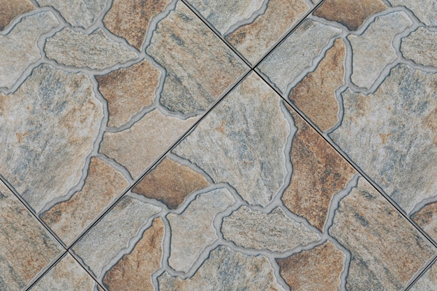 Kafelkowa podłoga zbliżenie z mozaiki.