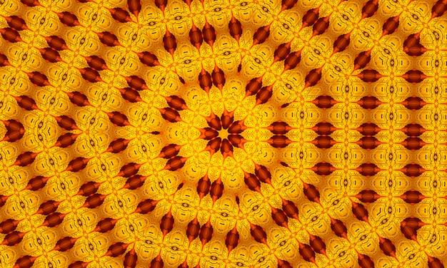 Kalejdoskop bezszwowa złota tekstura. ilustracja do projektowania. jasny kwiat