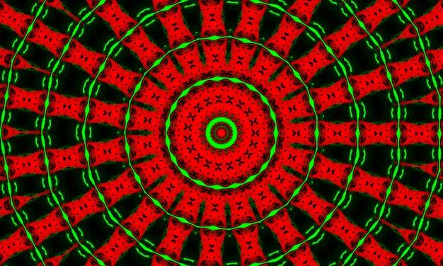 Kalejdoskop w świątecznych kolorach czerwieni i zieleni. wesołych świąt 2022 wzór.