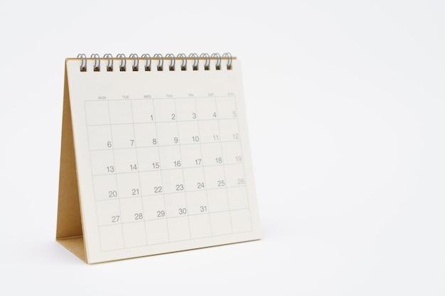 Kalendarz miesiąca. za pomocą koncepcji biznesowej tła i koncepcji planowania z miejscami kopiowania i odstępu na tekst lub projekt.