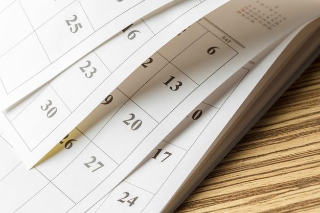 Kalendarz na stole
