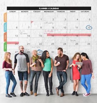 Kalendarz planner zarządzanie organizacją przypomnij koncepcję