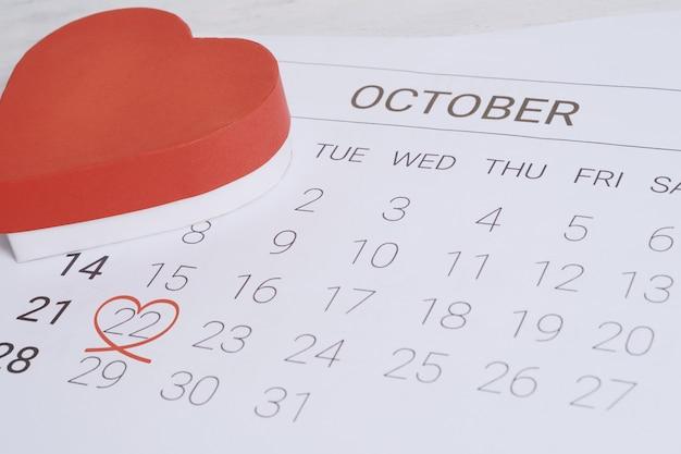 Kalendarz z pudełkiem.