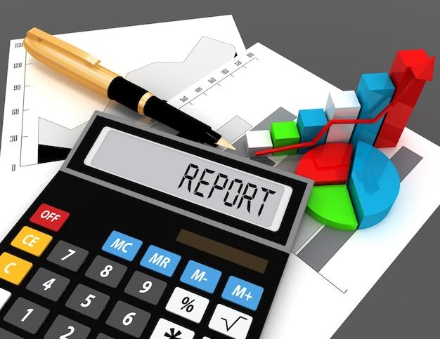 Kalkulator 3d z raportem słownym na wyświetlaczu
