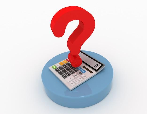 Kalkulator i znak zapytania w projektowaniu informacji związanych z obliczeniami i problemami