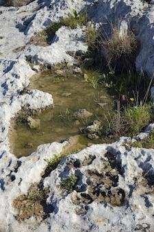 Kamenitza lub tymczasowy basen z wodą deszczową