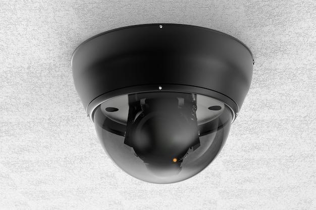 Kamera bezpieczeństwa renderowania 3d lub kamera cctv na suficie