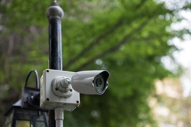 Kamera wideo bezpieczeństwa cctv na zewnątrz