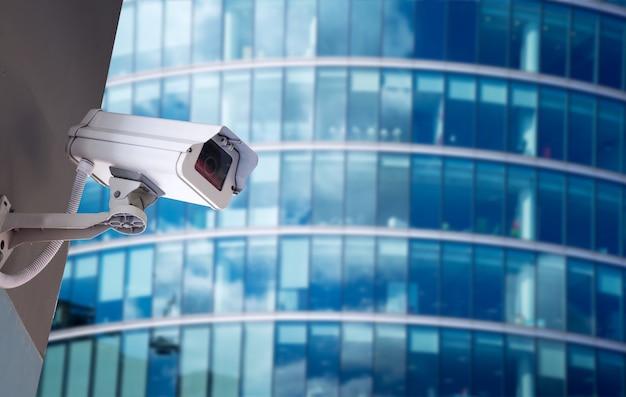 Kamery cctv ochrony w budynku biurowym