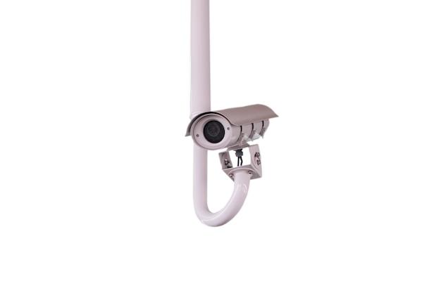 Kamery o obwodzie zamkniętym (cctv) na białym tle