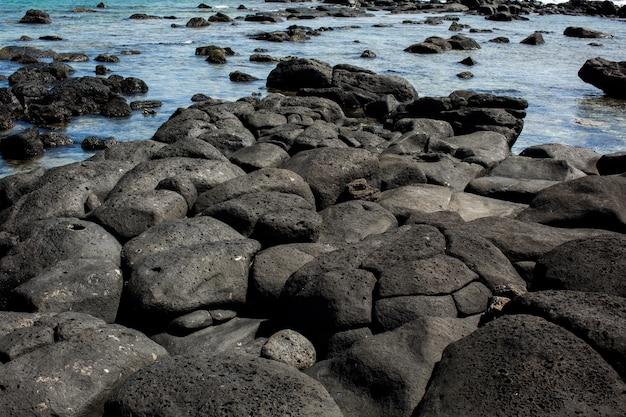 Kamień plaża na oceanie indyjskim