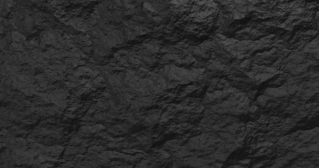 Kamień streszczenie czarne tło. renderowanie 3d.