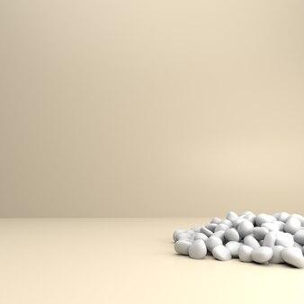 Kamienie żwirowe na podłodze