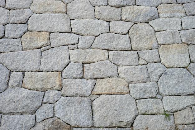 Kamienna ściana wykonana jest z wielowarstwowego kamienia ustawionego w kierunku pionowym.