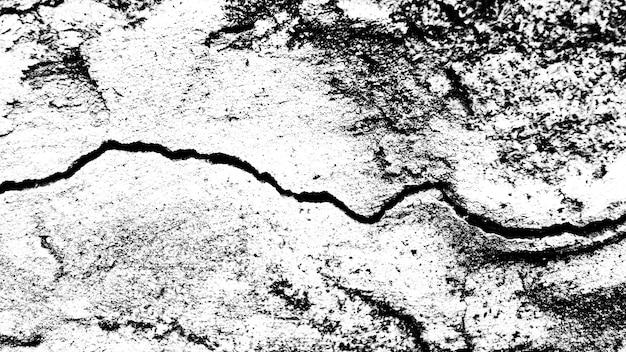 Kamienna ściana z pęknięciem. czarno-biała tekstura do projektowania