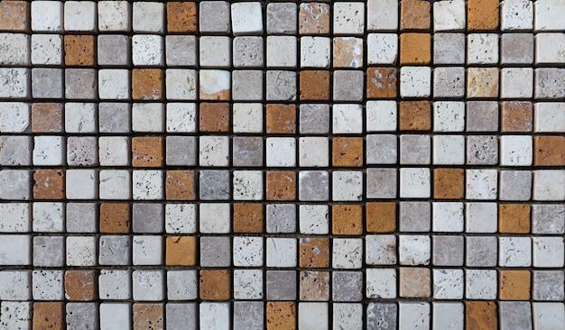 Kamienne płytki trawertynowe, tekstury. naturalny materiał dekoracyjny.