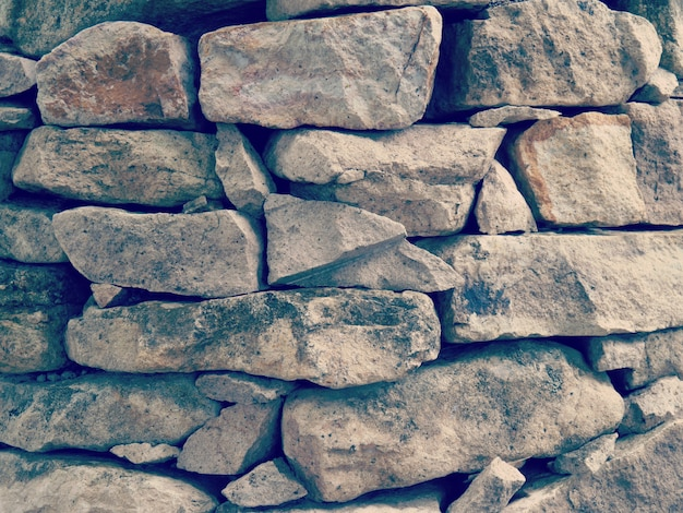 Kamiennej ściany stary retro rocznika styl