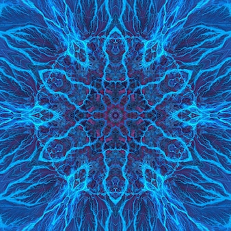 Kamienny agat lapis lazuli niebieski minerał, marmur morski akwarelowy, geometryczny szlif powtarzalny wzór. ilustracja okrągłego kamiennego tła wzoru tekstury