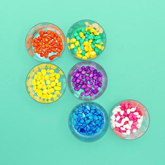 Kamyczki ozdobne minimalistyczny design candy colors
