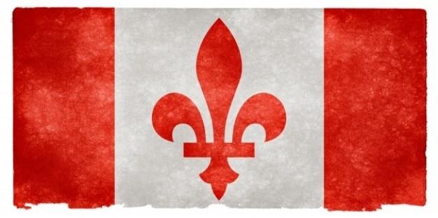 Kanada fleur de lys grunge flag