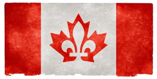 Kanada fuzja grunge flag