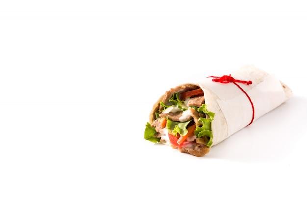 Kanapka z kebabem lub shawarma