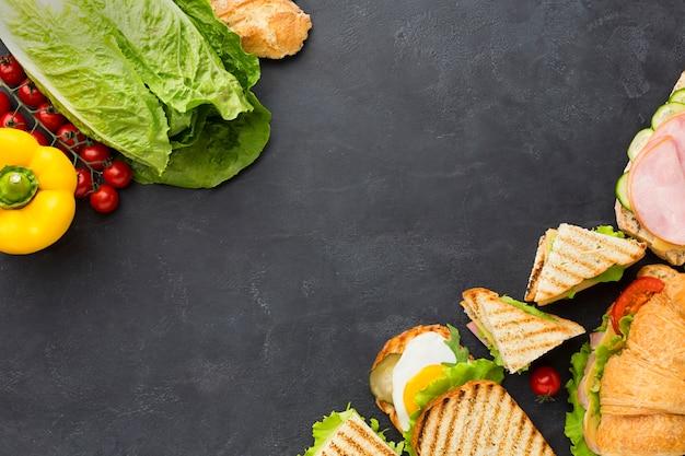Kanapki i zdrowe składniki