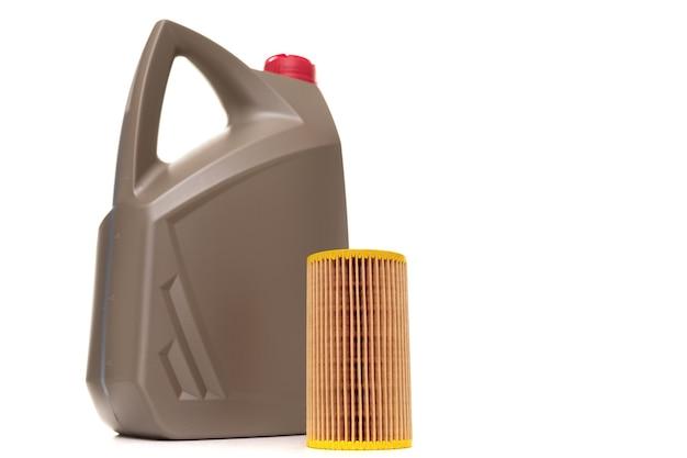 Kanister oleju silnikowego do silnika i filtra powietrza