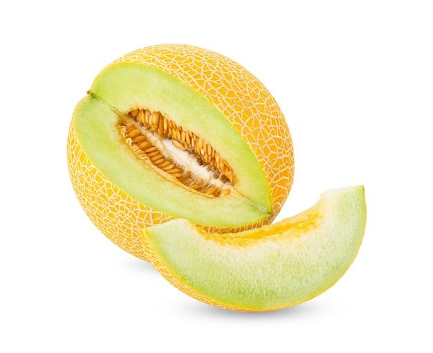 Kantalupa melon na bielu stole.