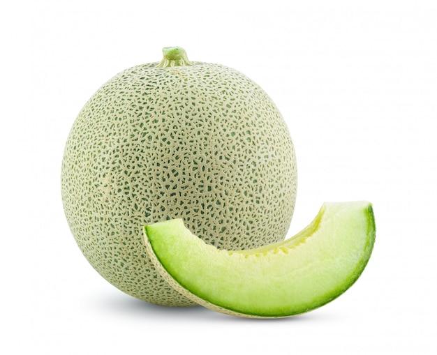 Kantalupa melon odizolowywający na bielu
