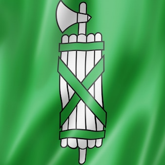 Kanton st. gallen - państwo - flaga, szwajcaria macha kolekcja transparentu. ilustracja 3d