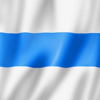 Kanton zug - państwo - flaga, szwajcaria macha kolekcja transparentu. ilustracja 3d