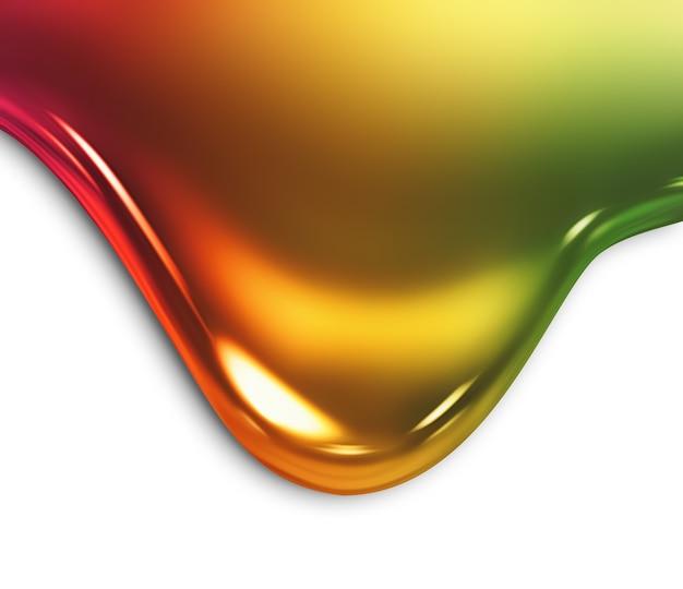 Kapanie farby zbliżenie na białym tle