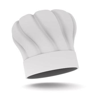 Kapelusz kucharzy na białym tle. ilustracja 3d