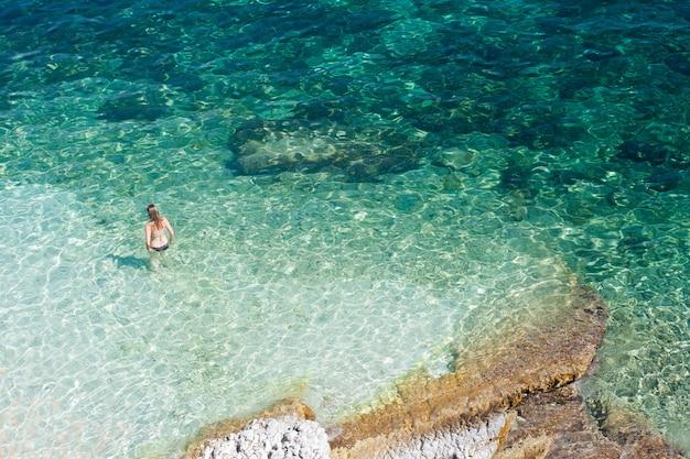 Kąpiących się, agia efimia morze kefalonia