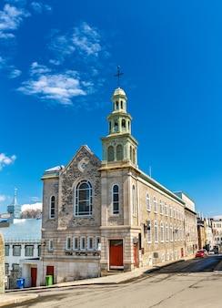 Kaplica jezuitów w mieście quebec - quebec, kanada