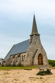 Kaplica w etretat, normandia